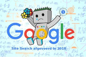 Google site search afgevoerd