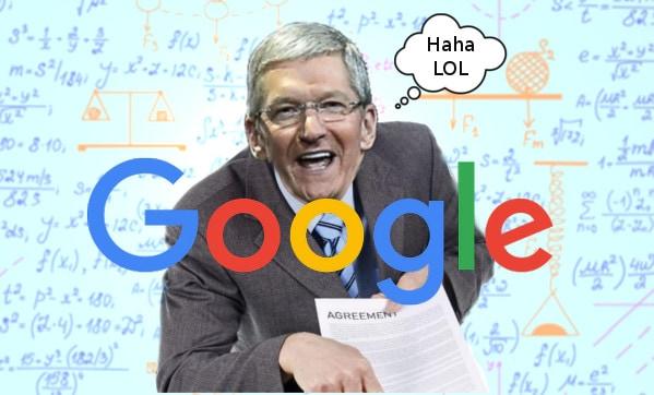 Apple krijgt mogelijk 3 miljard dollar per jaar van Google