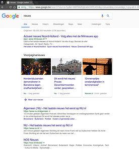 Voorbeeld Google domeinnaam niet meer bepalend voor lokale zoekresultaten