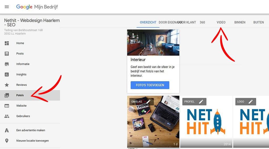 Google Mijn Bedrijf Video Toevoegen