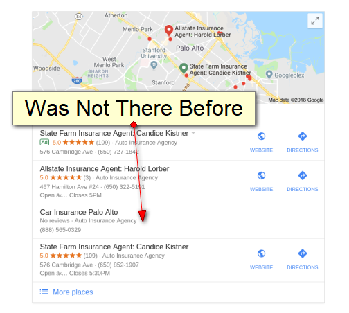 Google Local Pack Spam